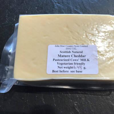Scottish Natural Cheddar - 400G.+