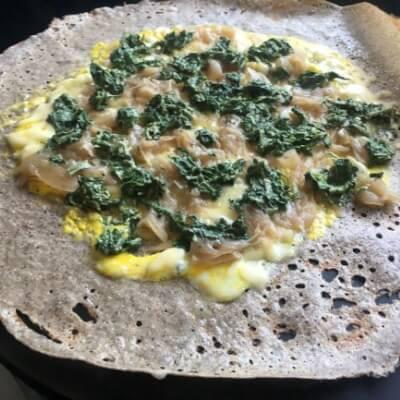Savoury Filled Buckwheat Galette - Vegetarian Royale