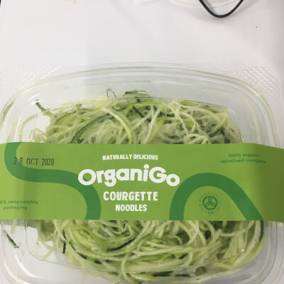 Organigo Organic Courgette Noodles