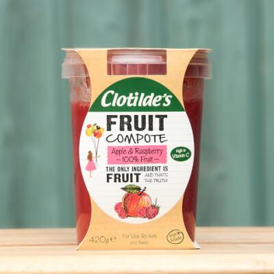 Clotilde's Apple & Raspberry Compote. 420G