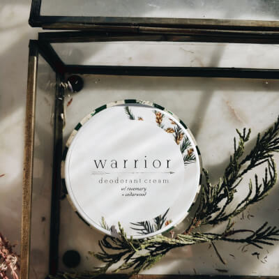 Warrior Deodorant Cream Rosemary + Cedarwood
