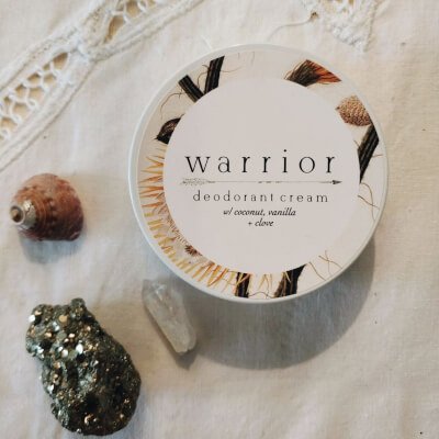 Warrior Deodorant Cream Coconut, Vanilla + Clove (Essential Oil Free)