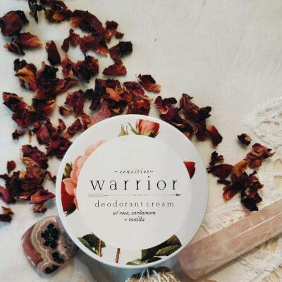 Warrior Sensitive Deodorant Cream Rose Vanilla Cardamom