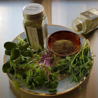 Microgreens - Powder With Glass Spice Jar