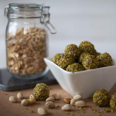 Cashew & Pistachio Energy Balls