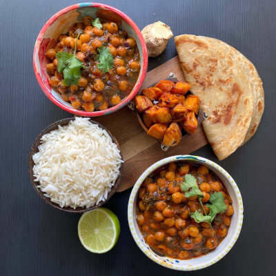 Chickpea + Spinach, Coconut Curry