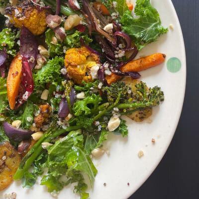 Kale + Roasted Vegetable Salad
