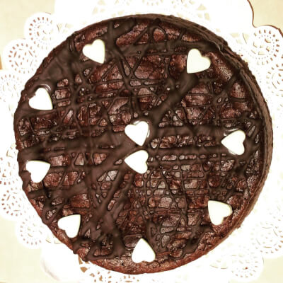 French  Valentine Chocolate Courgette Cake Gluten Free  4/6 People