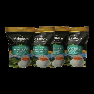 Mcentee's Organic Sencha Green Tea 150G Bags Pack Of 4