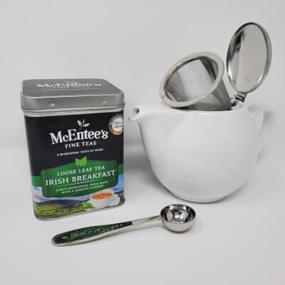 Irish Breakfast Caddy & Teapot Gift Set – Easy Tea For Two!