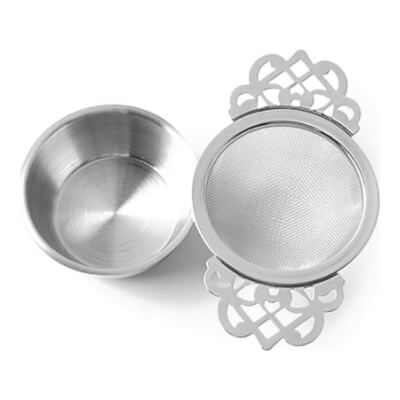 Tea Strainer And Stand