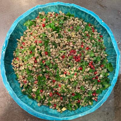 New! Barley, Pomegrante, Celery & Dill