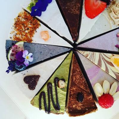 Raw Rainbow Cake