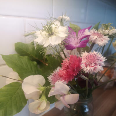 Posy Of Garden Flowers