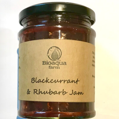Blackcurrant And Rhubarb  Jam 330G