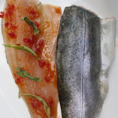 2 Trout Fillets With Sweet Chilli Coriander Marinade