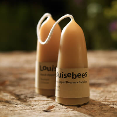 A Pair Of Stumpie Beeswax Candles