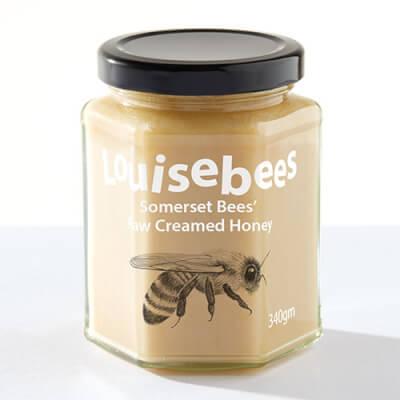 Somerset Bees' Raw Creamed Honey 340Gm / 12Oz