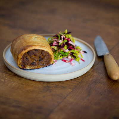 Beef Carrot Horseradish Sausage Roll