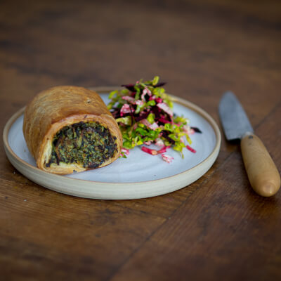 Spinach Egg And Potato Sausage Roll