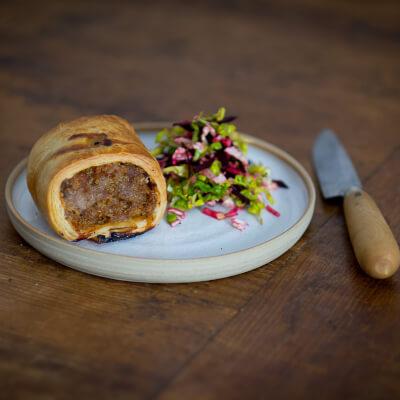 Pork Westcombe Cheddar Sausage Roll