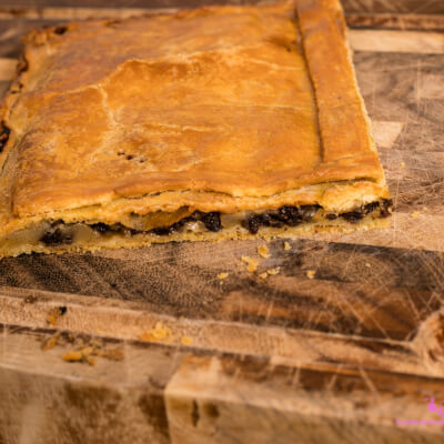 Morcilla Spanish Black Pudding And Pear Compote Pie