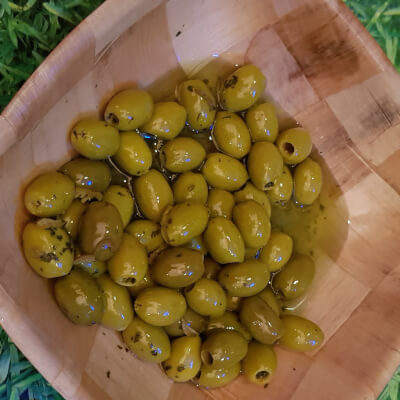 Olives With Lemon And Coriander