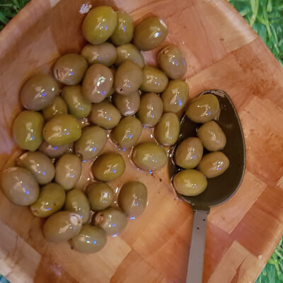 Olives With Soft Cheese