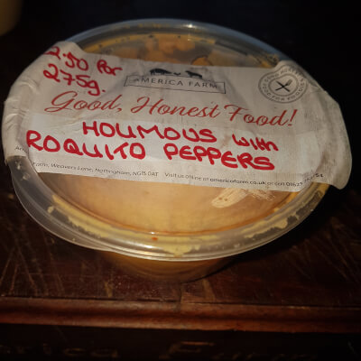 Hummus With Roquito Peppers (200G)