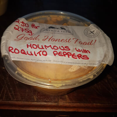 Hummus With Roquito Peppers (200G)  Pot Return Packaging