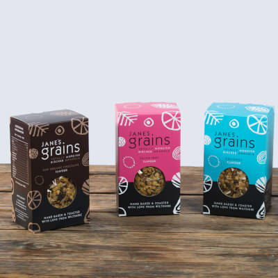 ALL FOUR FLAVOURS OF GRANOLA