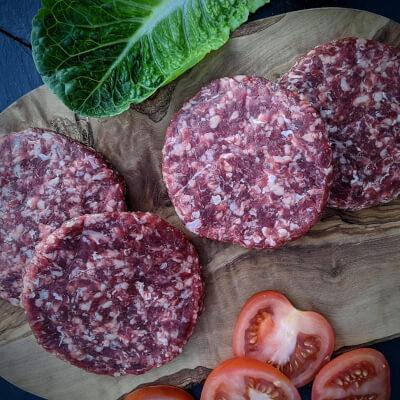 Grass Fed Beef Burgers (Gluten Free)