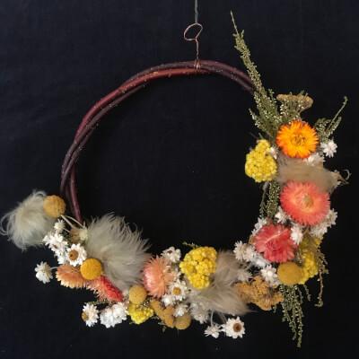 Everlasting Dried Flower Wreath