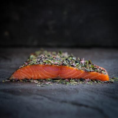 Burren Cold Smoked Irish Organic Salmon With Seaweed