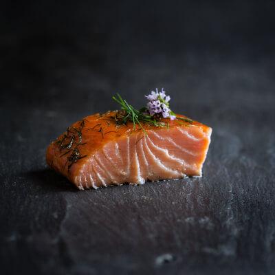 Burren Hot Smoked Irish Organic Salmon With Honey, Lemon & Dill