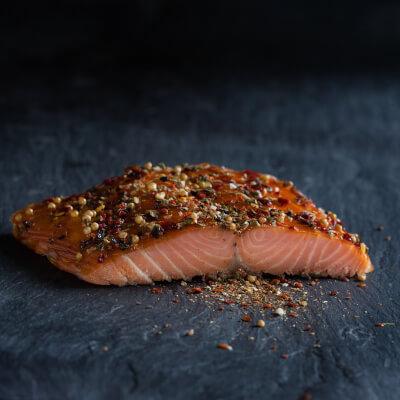 Burren Hot Smoked Irish Organic Salmon, Spiced