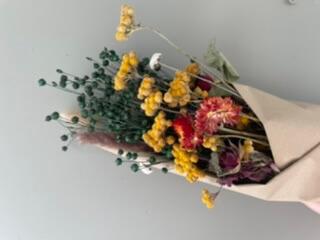 Medium Autumnal Dried Flower Bouquet