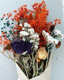 Large Autumnal Dried Flower Bouquet