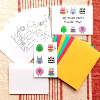 Diy Pop-Up Cards Kit - 6 Designs