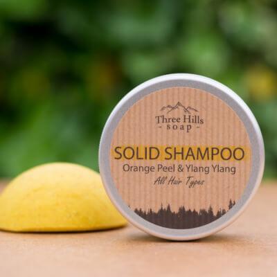 Solid Shampoo Bar For All Hair Types - Orange Peel & Ylang Ylang