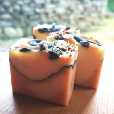 Rose & Clay Bar - With Activated Charcoal & Botanicals