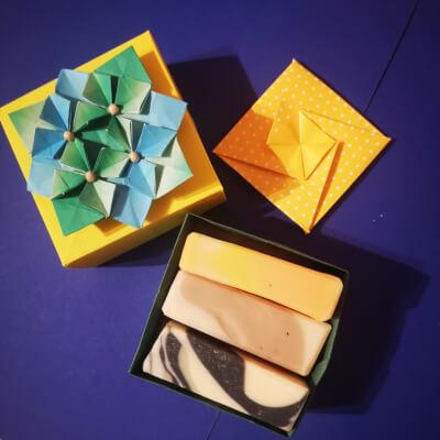 Spring Gift - 100G Sample Bars In Handmade Japanese Origami Box