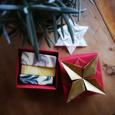 Artisan Soap Gift Selection In Japanese Origami Box
