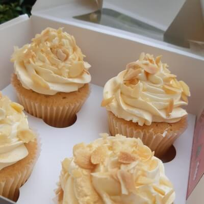 Amaretto & Almond Big Cupcakes - Boxes Of 4 / 6 / 12