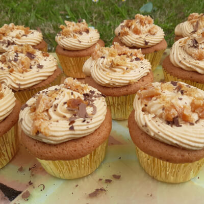 Salted Caramel Big Cupcakes- Box Of 4
