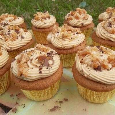 Salted Big Caramel Cupcakes- Box Of 6