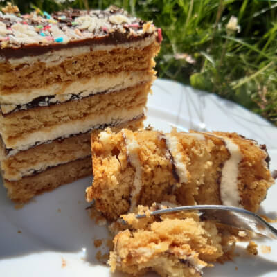 Layered Honey Cake Slice / Miodownik