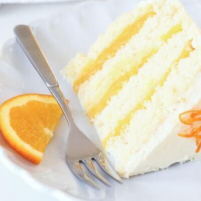 Zesty Layered Orange Cake Slice