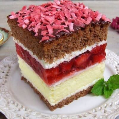 Luxury Layered Cheesecake Slice