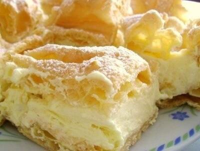 Karpatka- Eclair Cake Slice